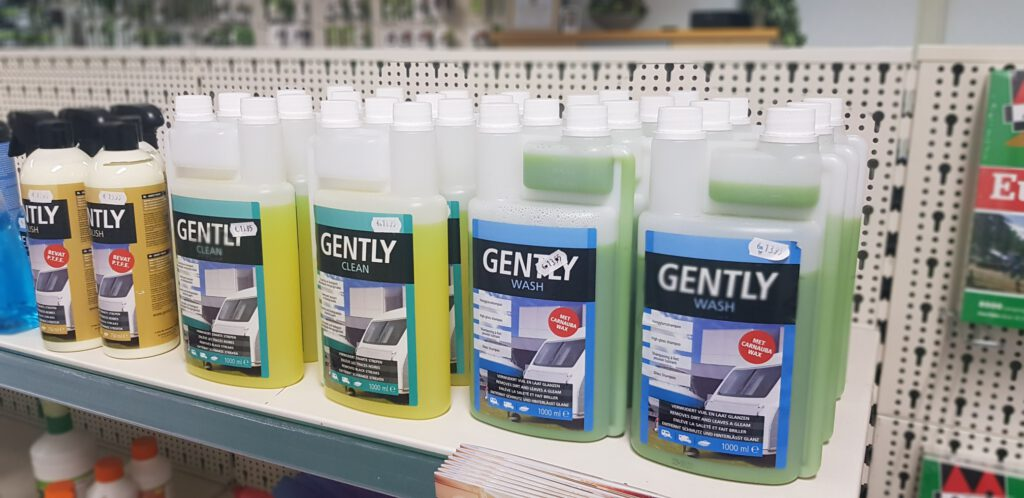 Gently, caravan- en camper cleaning voor zowel binnen- als buitenkant